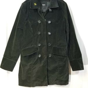 Black Velvet Mossimo Double Buttons Coat Size Smal